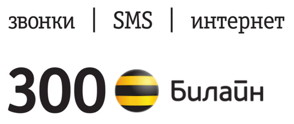звонки интернет и смс за 300 рублей