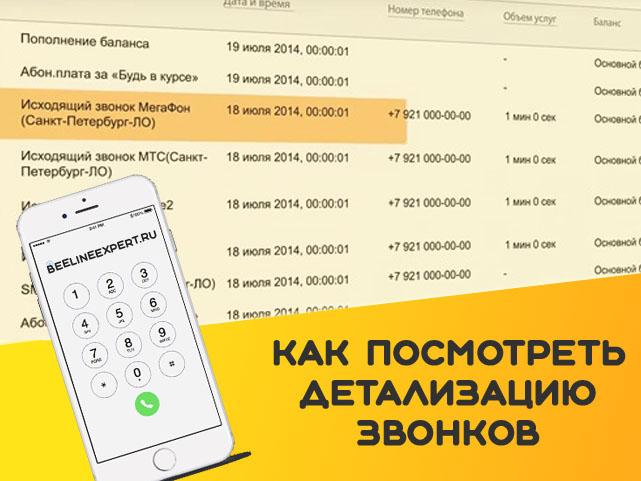 детализация звонков
